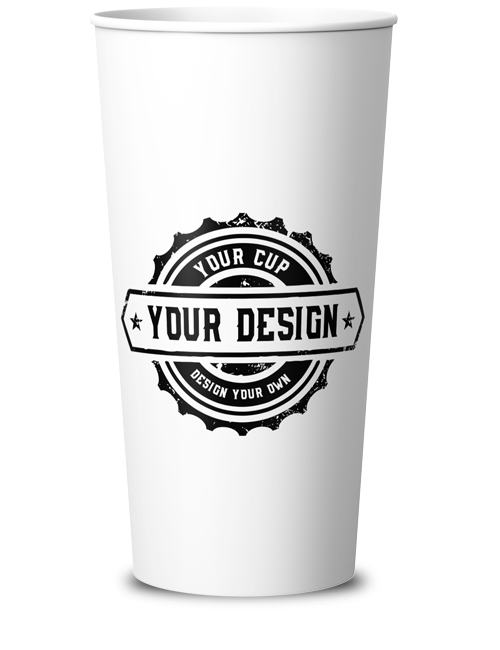 single wall cup 550 ml printed in ireland by cupprint 20 oz single wall cup