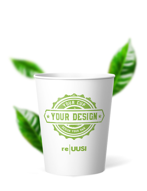 Recyclable Eco Friendly Cups - Single Wall reuusi 8oz