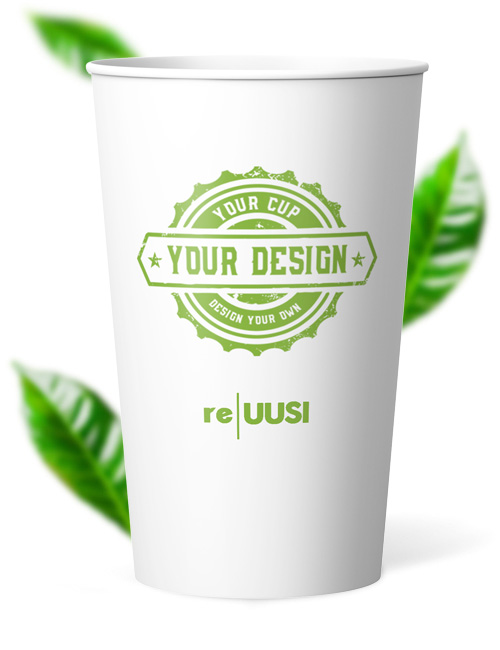 Recyclable Eco Friendly Cups - Single Wall reuusi 16oz
