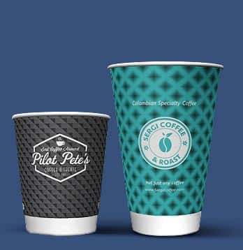 printed paper cups with double wall insulation