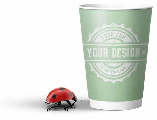 Double Wall Compostable Paper Bio Cup custom printed by CupPrint