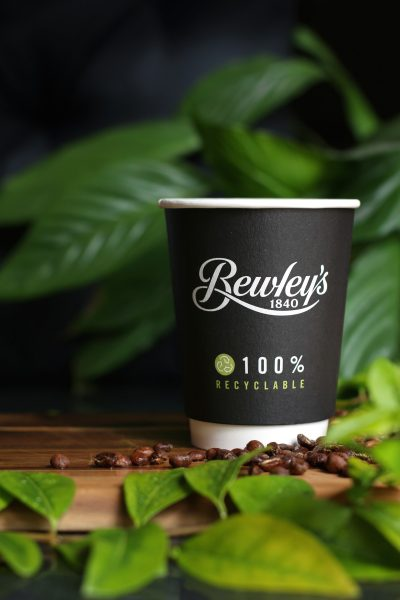 truly recyclable coffee cup by cupprint for Bewley's of Ireland AAA green dot status