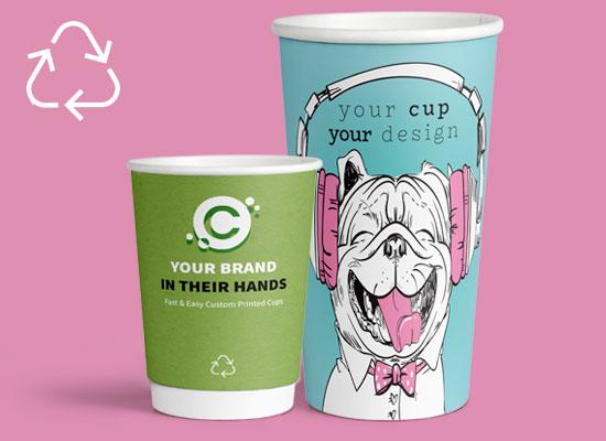 Op Maat Gemaakte Recyclebare Koffiebekers bedrukken