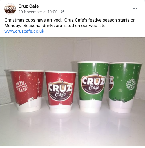 custom printed Christmas paper cups
