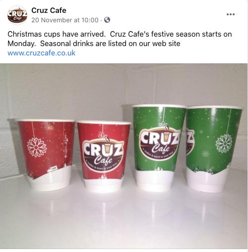 custom printed Christmas paper cups