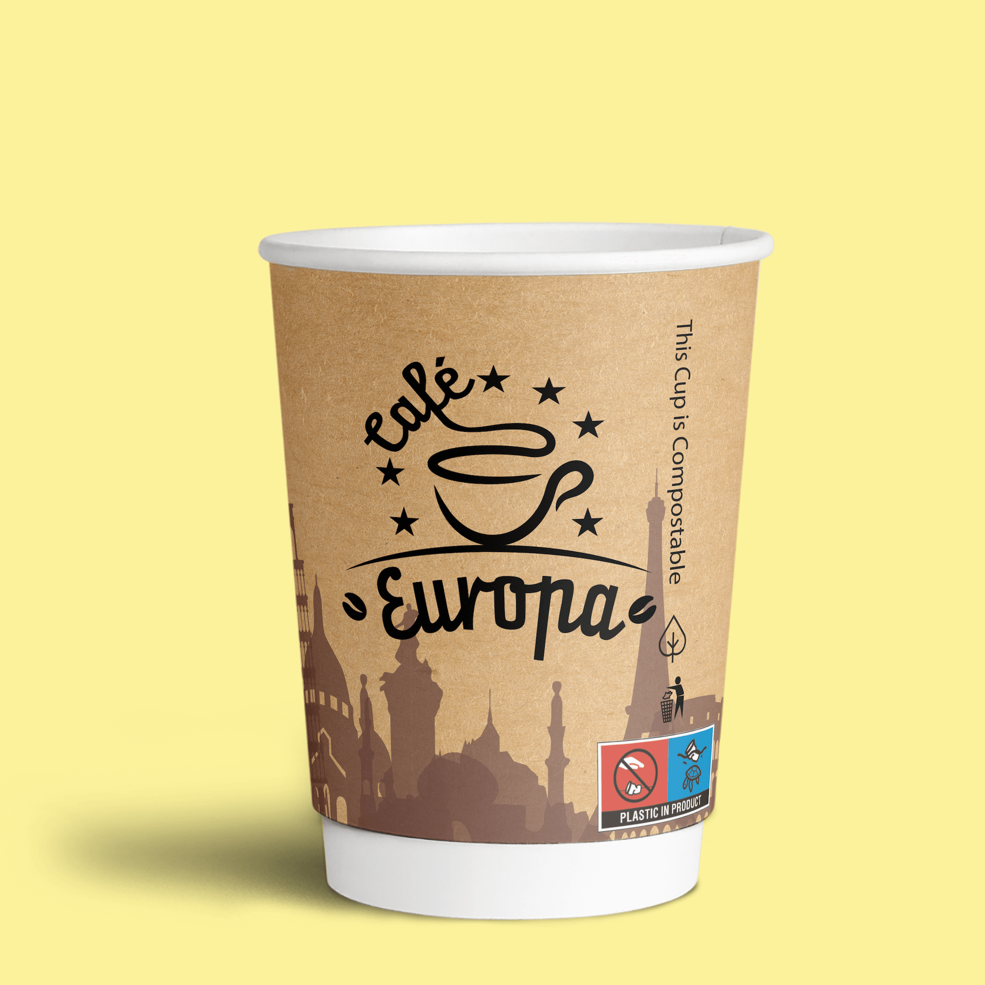 Image for a blog about European Single-Use Plastic Directive Paper Cups Turtle Logo Labelling Requirements and Drinks Cups Regulations